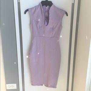 Lavender bodycon dress